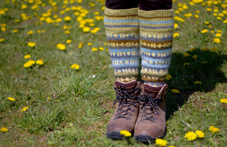 Three months in the making - Legwarmers for soundwalking!