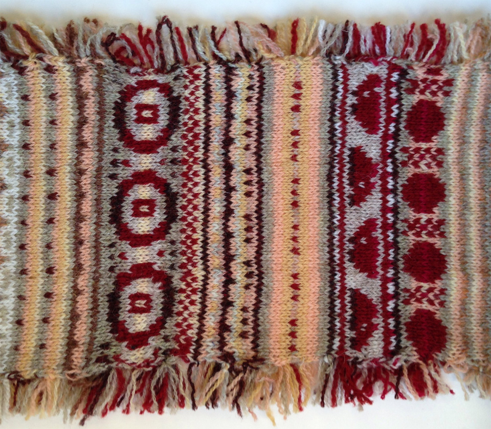 Red Bamboo Bowl immortalised in stranded colourwork by LaylaKnits on Ravelry (click image to see project).