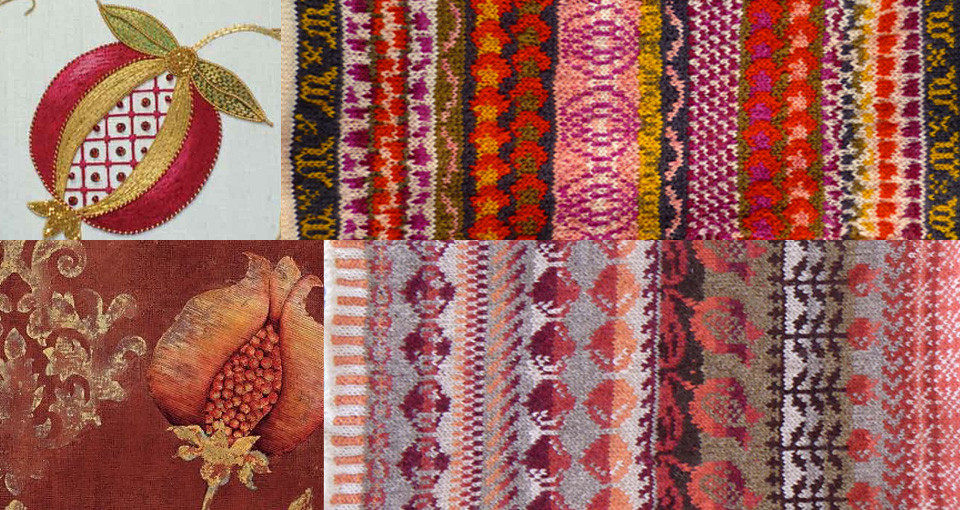 Using found prints or textiles to record inspiration sources