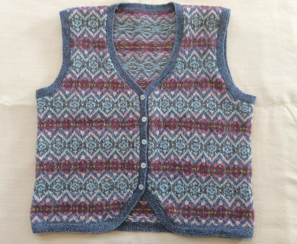 Helen's beautiful dry stone wall vest - go and give it hearts on Ravelry!