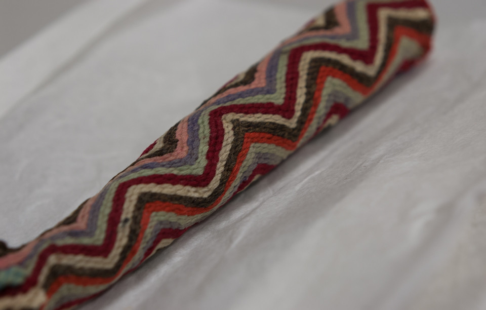 Knitting sheath from the Shetland Museum & Archives