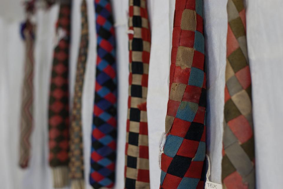 Knitting sheaths bearing the patina of time