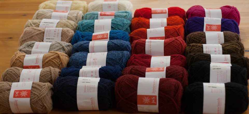 Selected yarn shades for our class