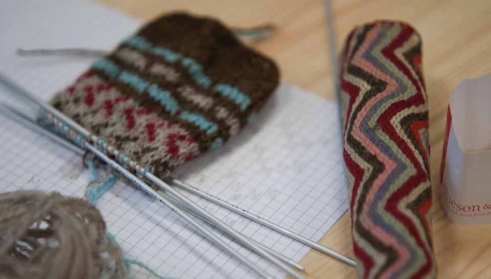 Beautiful translation of knitted sheath into stranded colourwork ideas