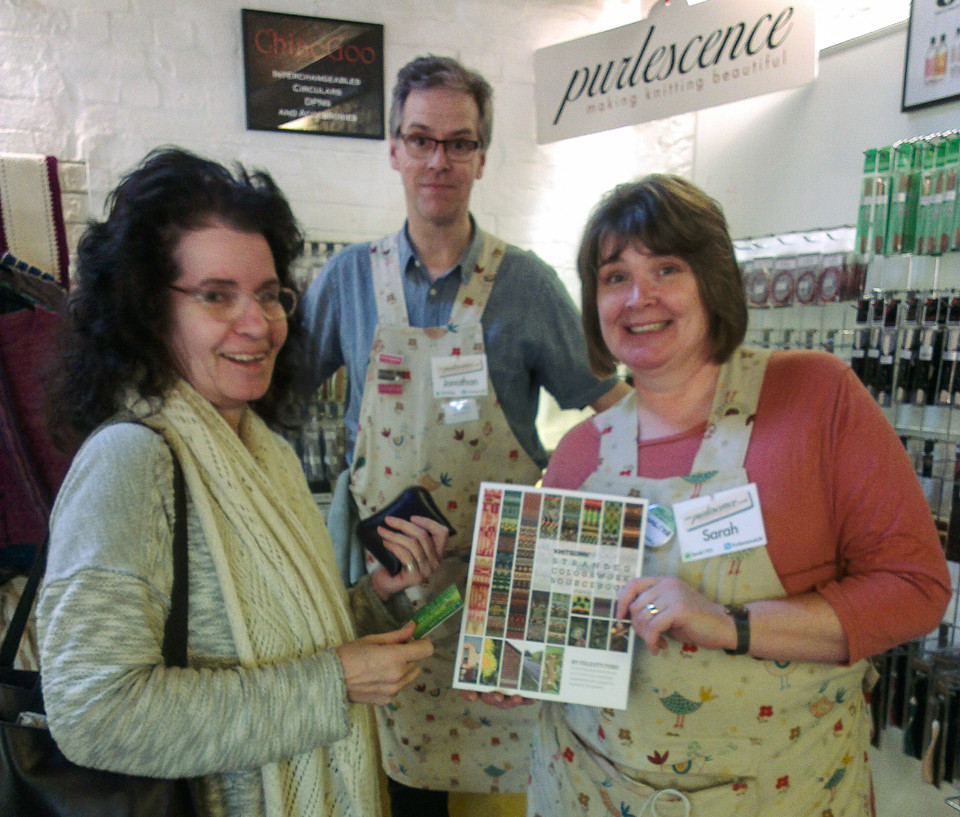 Jonathan and Sarah (right) with Jane (left) at Unravel 2015