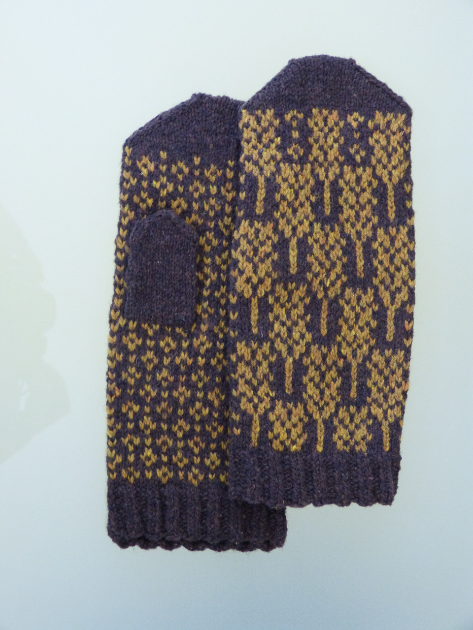 Wheatfield mittens from the book